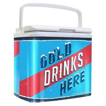 Life 3021529 Tinny Retro Tin Cooler Cold Drinks