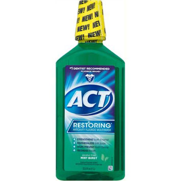 Chattem ACT Retoring Mouthwash Mint Burst - 33.8 fl oz