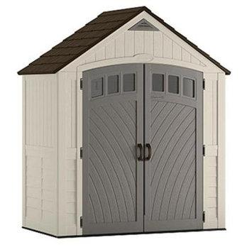Suncast Covington Gable Storage Shed (Common: 7-ft x 4-ft; Interior Dimensions: 6.84-ft x 3.67-ft) BMS7425