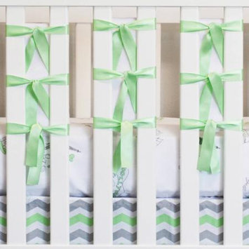 Oliver B Ventilated Slat Bumper 20-Pack - White with Mint Ties