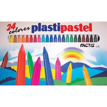 General Pencil Company General Pencil GP1174 Factis Plastipastel Set-24 Pieces