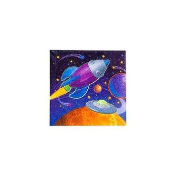 Amscan - Kookaburra BB007684 Space Beverage Napkins - 16-Pack