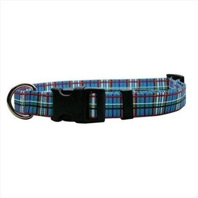 Yellow Dog Design TB101S Tartan Blue Standard Collar - Small