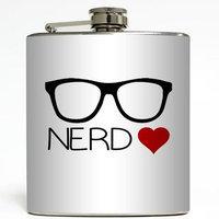 Nerd Love - Liquid Courage Flasks - 6 oz. Stainless Steel Flask