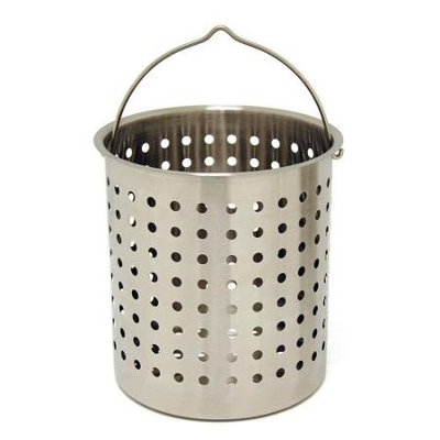 Bayou Classic Perforated Basket 24 Qt Stainless Steel