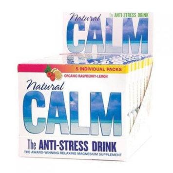 Natural Vitality Calm Counter Display - Raspberry Lemon - Case of 8 - 5 Packs
