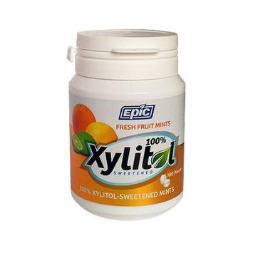 Epic Dental - Xylitol Sweetened Mints Fresh Fruit - 180 Mints