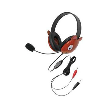Califone Stereo Headphone Bear W/ Mic Dual 3.5mm Plug Via Ergoguys