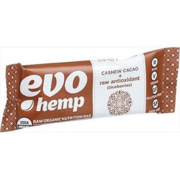 Evo Hemp - Organic Nutrition Raw Antioxidant Bar Cashew Cacao - 1.69 oz.