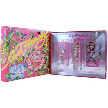 Christian Audigier 'Ed Hardy Deluxe Collection' Women's 4-Piece Gift Set