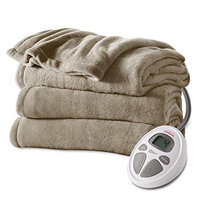 Jarden Sunbeam Electric Overblanket - Queen Size - 10 Hour [automactic Shut Off] - Dual Control - 10 Heat Settings - Dryer Safe, Washable, Preheat - Polyester (bsm9cqs-r772-12a00)