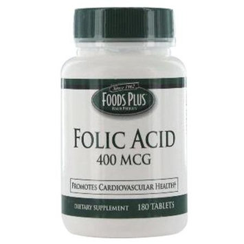 Food Plus Folic Acid 400 Mcg Tablets - 180 Ea