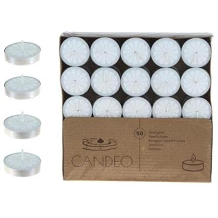 DDI 1756872 50 Unscented Tea Light Candles - White Case Of 24