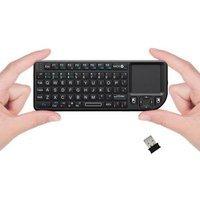 Favi Entertainment Favi Mini Keyboard with Laser Pointer - Black (FE01-BL)