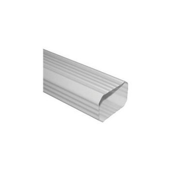 Severe Weather 10-ft White Vinyl Downspout AW200