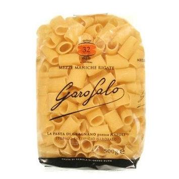 Garofalo Pasta S32 Mezze Maniche Rigate Pasta Case Of 20 - 1 lb. Boxes