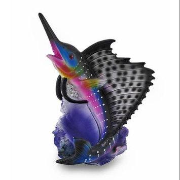 Zeckos Colorful Marlin Single Bottle Holder Nautical Wine Display