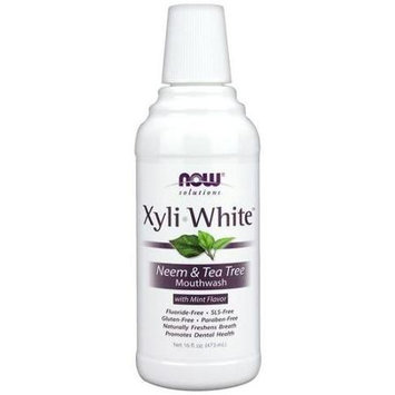 NOW Foods NOW Solutions XyliWhite Neem & Tea Tree Mouthwash Mint 16 fl oz