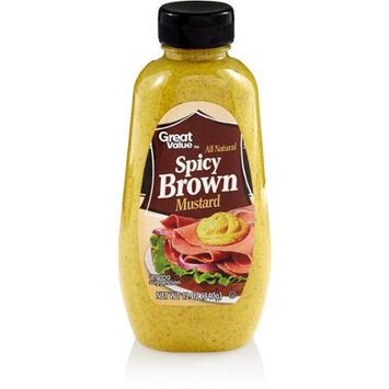 Great Value: All Natural Spicy Brown Mustard, 12 oz