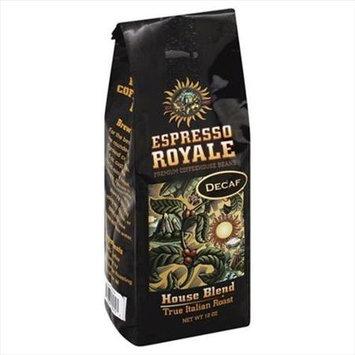 Espresso 12 oz. Decaf House Blend True Italian Roast Coffee Beans - Case Of 6