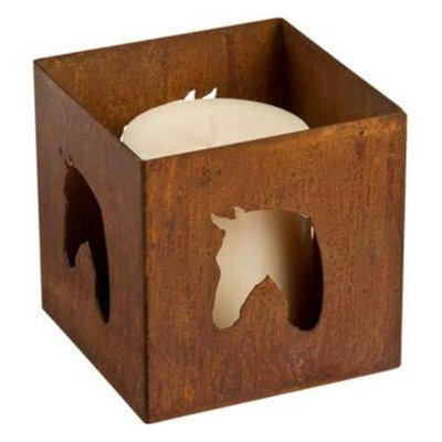 The Horse Fly VCRHORSE 2.5 x 2.5 x 2.5 in. Horse Metal Candle Holder Votive