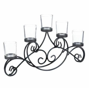 Home Decor Iron Waves Candle Stand