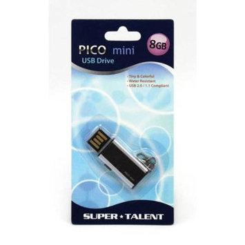 Super Talent Pico Mini-C 8GB USB2.0 Flash Drive (Black)