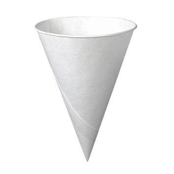 Solo Cup Company Solo Inc. Cone Cups Solo 6oz Bare Treated Paper, White, White