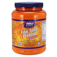 Fit & Tone Protein - Berry Flavor Now Foods 1.8 lb Powder