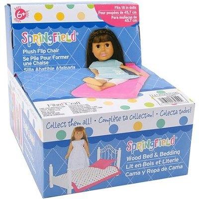 Fibre Craft Doll Furniture- Plush Flip Chair-Pink