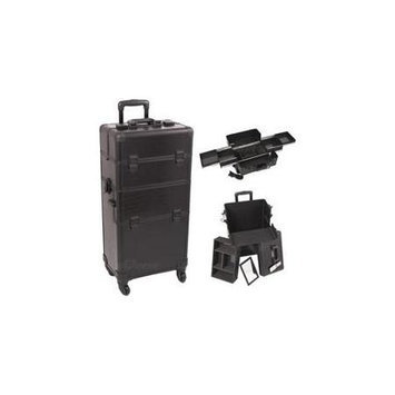 Just Case Sunrise I3161CRAB Black Crocodile Trolley Makeup Case