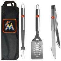 Siskiyou Buckle Co., Inc. MLB 3 Piece BBQ Tool Set with Bag - Miami Marlins