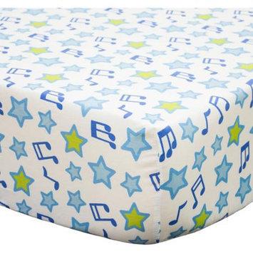Belle Jungle Jamboree Crib Sheet One Size (Blue)
