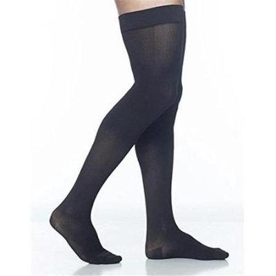 Sigvaris Midtown Microfiber 821NMLM99 15-20 mmHg Mens Thigh Medium Long - Black