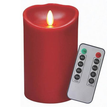 Veraflame E03569A-R Candle Red Waxflame Remote 5 in.