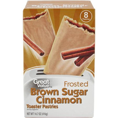 Great Value: 8 Frosted Brown Sugar Cinnamon Toaster Pastries, 14.6 Oz