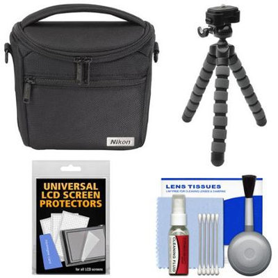 Nikon 17009 Series 1/Coolpix Compact Camera Case with Flex Tripod + Kit for 1 J4 J5 V3 AW1 L840 P530 P610 P900