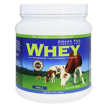 Dr. Venessas Formulas Dr. Venessa's Formulas - Grass Fed Hormone Free Whey Vanilla Flavor - 12 oz.