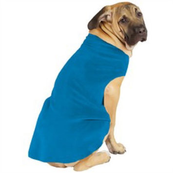 Gold Paw Fleece Dog Coat - Size: 8, Color: Blue