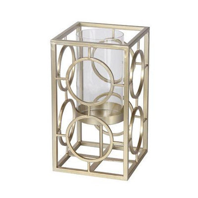 Privilege Iron and Glass Candle Holder