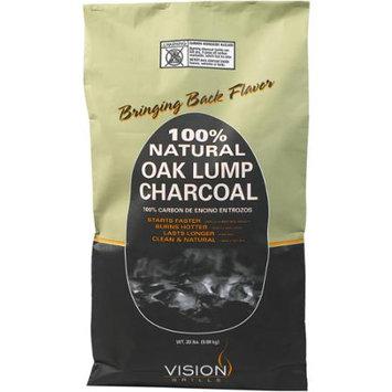 Vision Grills Grill Tools 100% Natural Oak Lump Charcoal 20 lb. Bag VGK-OAKLMP20