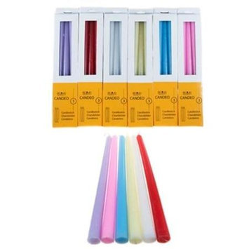 DDI 1489369 Unscented Taper Candles - Assorted Case Of 60
