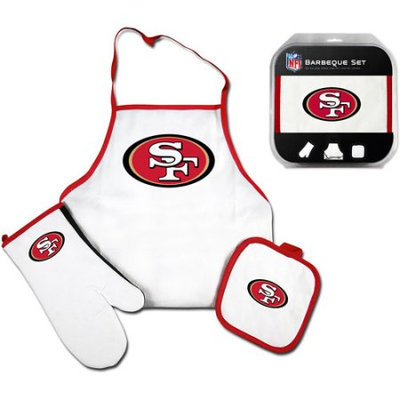 McArthur Towel & Sports San Francisco 49ers 3 Piece BBQ Barbeque Set