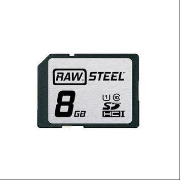 HOODMAN RAWSDHC8GBU1 Hoodman Raw Steel 8GB SDHC UHS-1 Card