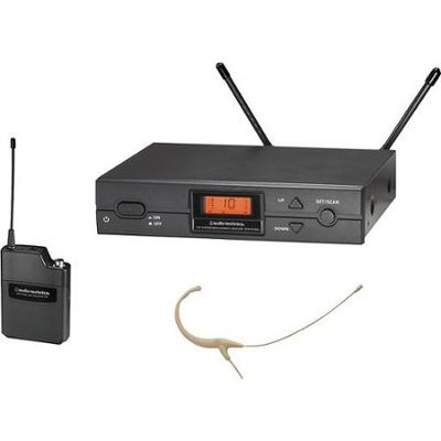 Audio-Technica ATW-2192a 2000 Series Headworn Omni Wireless System Band D Beige