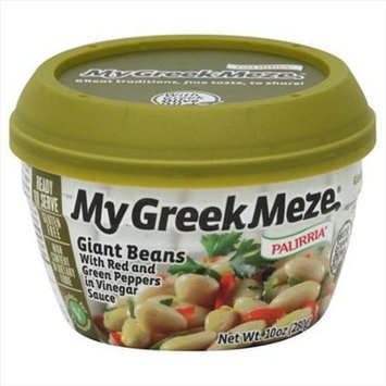 Palirria 10 oz. My Greek Meze Giant Beans With Red And Green Peppers In Vinegar Sauce - Case Of 6
