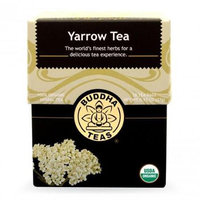Buddha Teas Yarrow 100 Percent Organic Herbal Tea 18 Bags Per Packet