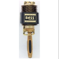 Bass Brushes Extra large Professional Thermal Hot Curl Brush - Wild Boar / Nylon Light Wood H