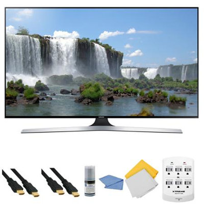 Samsung - Bundle UN65J6300 - 65-Inch Full HD 1080p 120hz Slim Smart LED HDTV + Hookup Kit - E1SAMUN65J6300