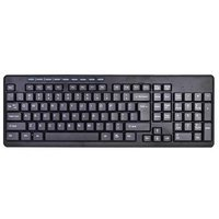 102 Key USB Wired Slim Standard Black Spill Resistant Multimedia Keyboard